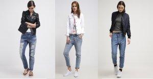 Luźne jeansy z wysokim stanem