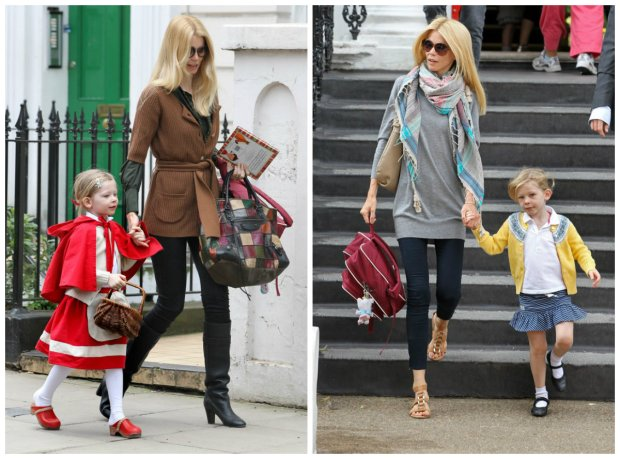 Claudia Schiffer z dziećmi