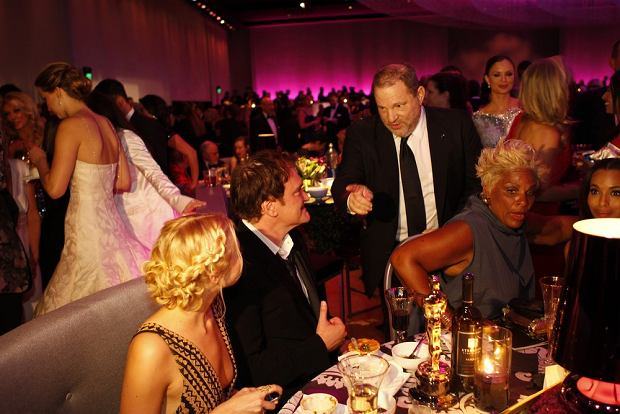 February 24, 2013 - Los Angeles, California, United States: Harvey Weinstein talks with Quentin Tarantino at the Governor's Ball at the 85th Annual Academy Awards at the Dolby Theatre at Hollywood & Highland Center. (Wally Skalij/Los Angeles Times/Polaris)