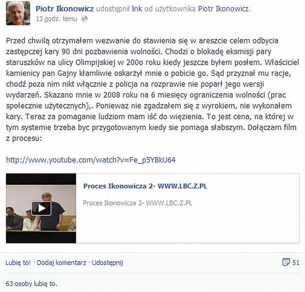 Piotr Ikonowicz wpis