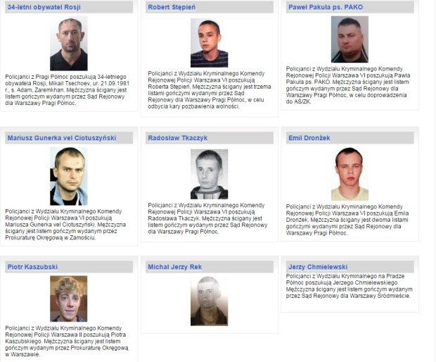 Komenda Stołeczna Policji - Poszukiwani