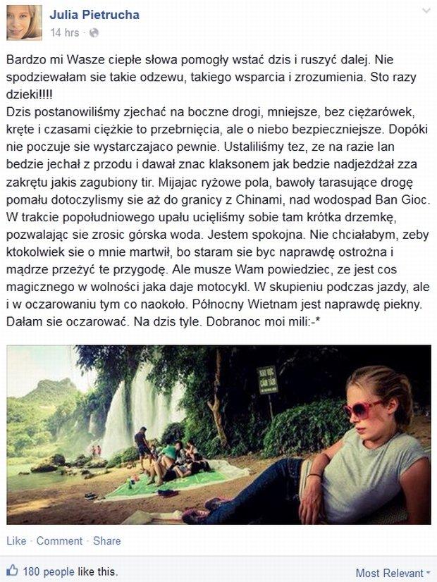 Julia Pietrucha na Facebooku