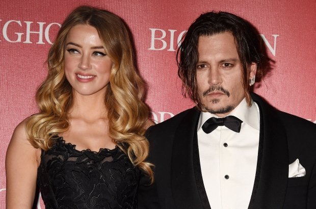 Amber Heard i Johnny Depp w 2015 roku