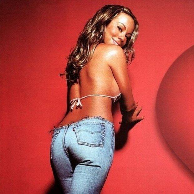Mariah Carey spodnie nosiła tak nisko, że musiała troskliwie dbać o depilację okolic intymnych (fot. materiały prasowe)