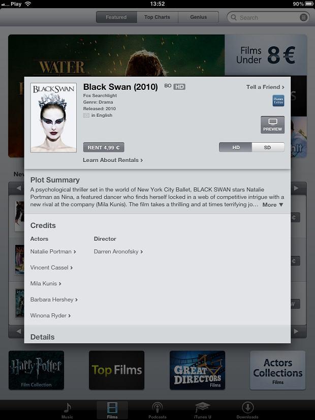 filmy już w polskim iTunes