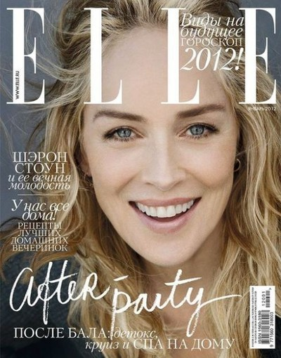 Sharon Stone na okładce Elle