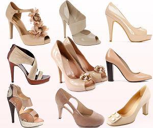 Buty w odcieniach beżu