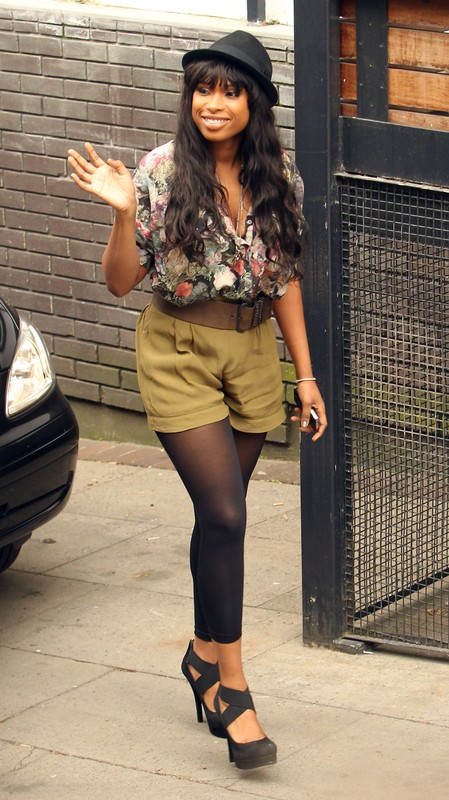 Jennifer Hudson is pictured arriving at the ITV studios for a guest appearance on 'The Alan Titchmarsh show', London
