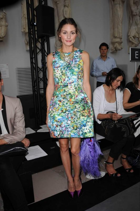 Olivia Palermo at the Stephane Rolland haute couture fall-winter 2011/2012 fashion show. Paris, FRANCE - 05/07/2011.