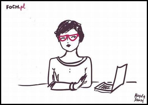 Pustki w redakcji mojej (rys. Magda Danaj)