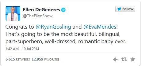 Ellen DeGeneres, eva mendes, ryan gosling