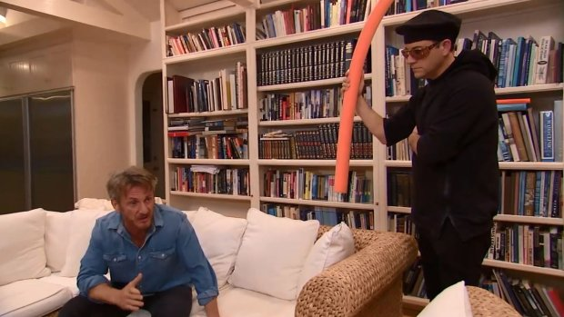 Sean Penn i Jimmy Kimmel