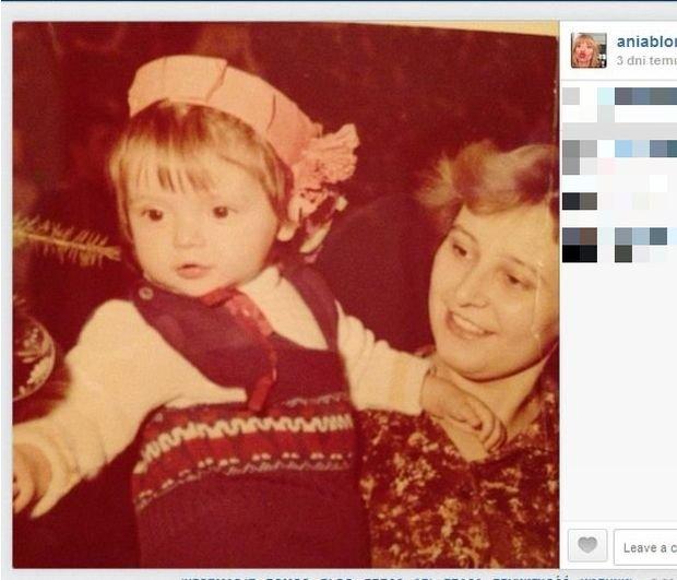 Anna Przybylska z matką