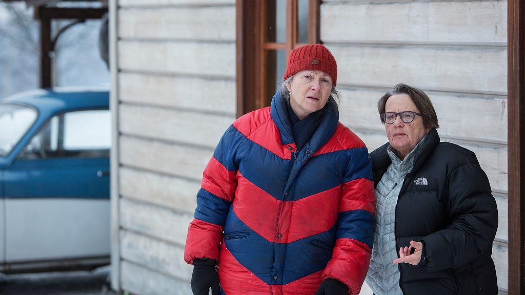 Agnieszka Holland na planie filmu ''Pokot'' (fot. materiały prasowe)