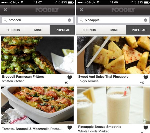 Nic tylko się zdrowo odżywiać /fot. Foodily app screenshot