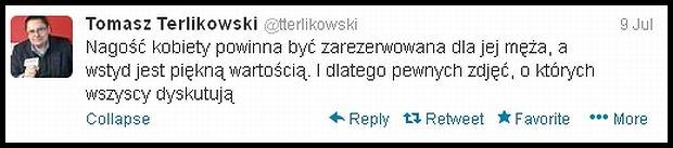 Terlikowski na Twitterze