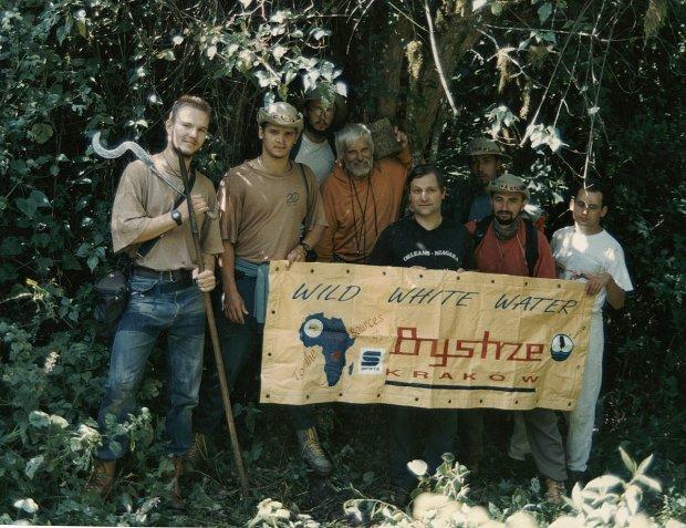 Członkowie wyprawy do źródeł Nilu fot. Tomasz Swinarski