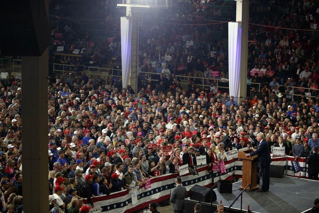 Republican presidential candidate, Donald Trump, speaks during a campaign rally, Saturday, Nov. 5, 2016, in Denver. (AP Photo/ Evan Vucci)