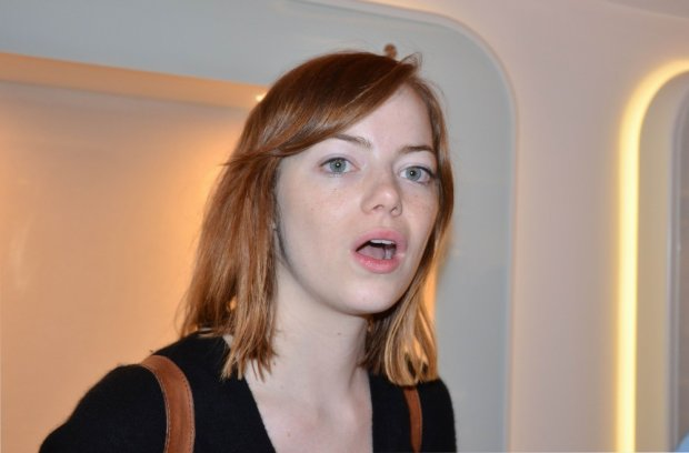 August 26, 2014 - Venice, Italy: 71 Venice Film Festival. The day before the official opening. Actress Emma Stone arriving at the festival. (Piero Oliosi/Polaris)