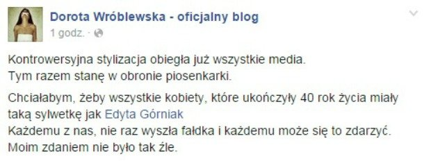 Wróblewska o