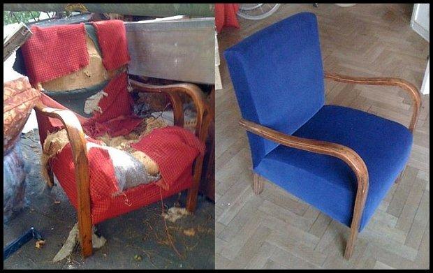 Fotele - przed i po