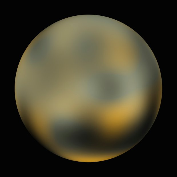 Pluton widziany przez Teleskop Hubble'a