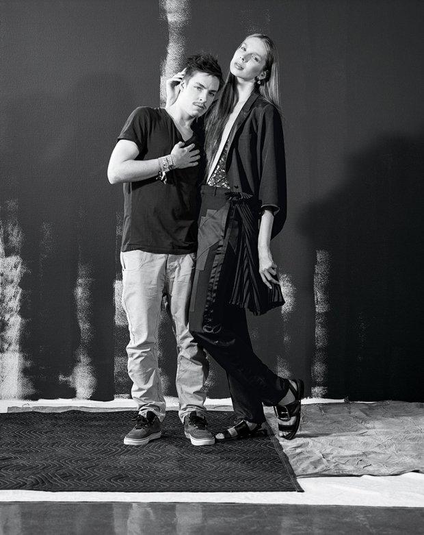 Valentijn De Hingh z bratem w kampanii domu handlowego Barney's