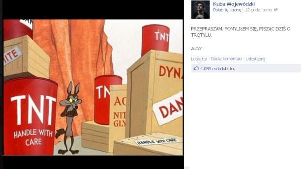 Kuba Wojewódzki, katastrofa smoleńska, smoleńsk, struś pędziwiatr, kojot, facebook