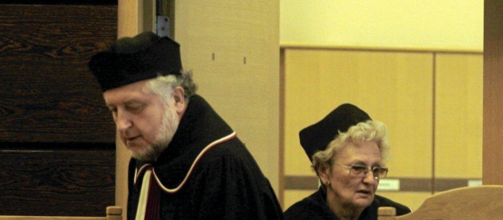Andrzej Rzepliński i Ewa Łętowska w Trybunale Konstytucyjnym (fot. Sławomir Kamiński)