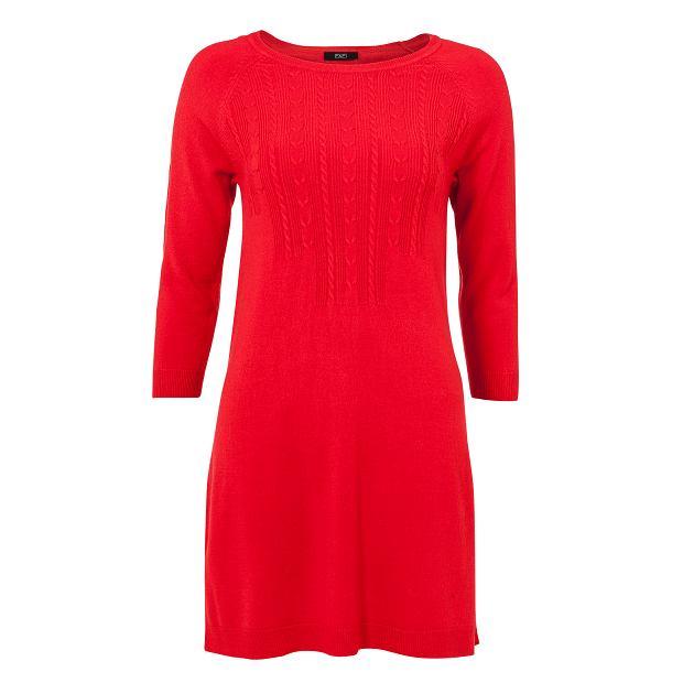 czerwień, sukienka