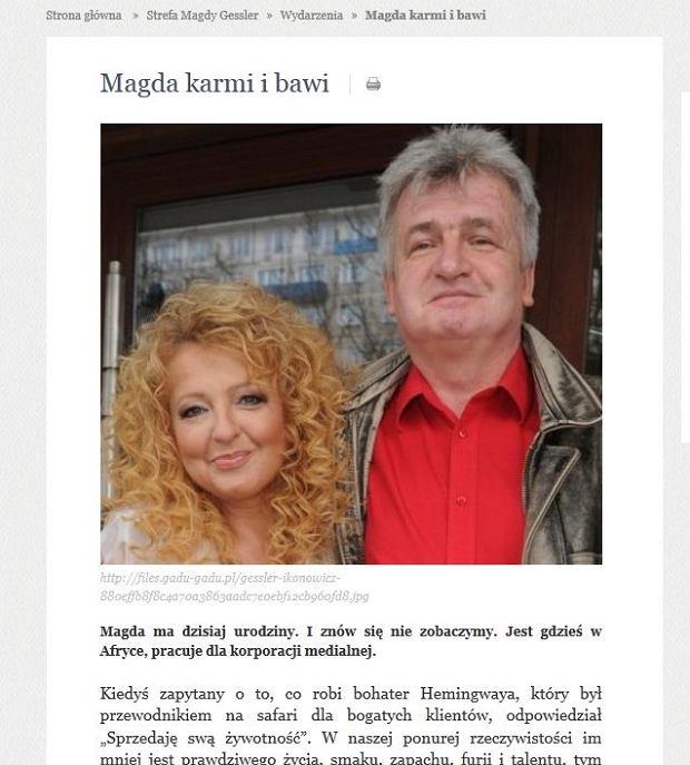 Magda Gessler, Piotr Ikonowicz