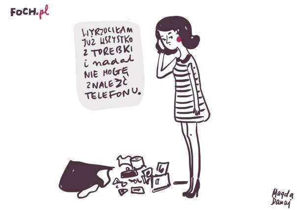 Bałagan w torebce (rys. Magda Danaj)