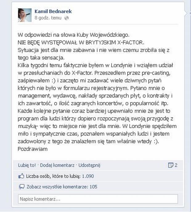 Facebook Kamil Bednarek