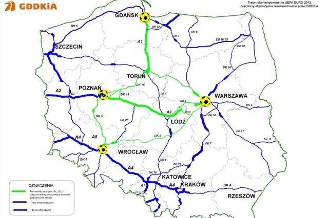Objazdy autostrady A2