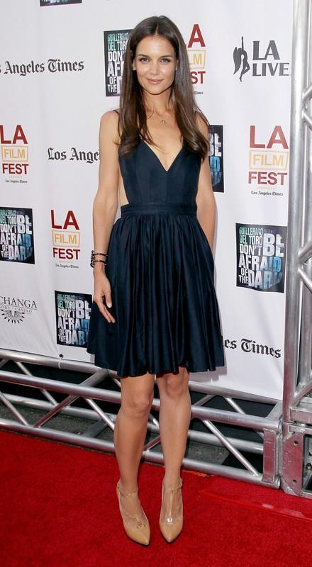 LOS ANGELES, CA - JUNE 26: Katie Holmes arrives at the Los Angeles Premiere of