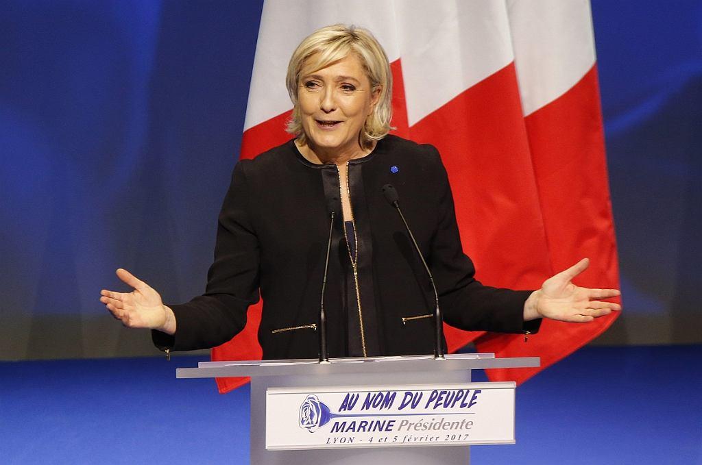 Kandydatka na prezydenta Francji Marine Le Pen (fot.Michel Euler/AP)