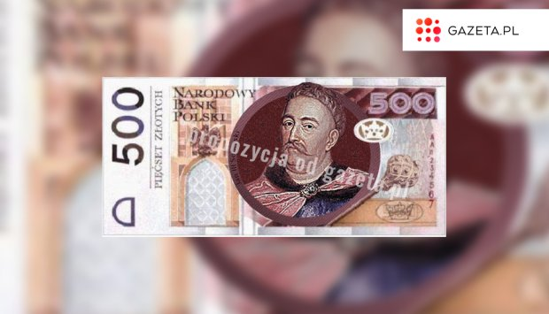 Nowy banknot o nominale 500 zł z Janem III Sobieskim