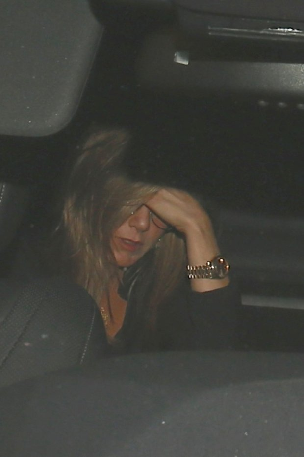 122862, Jennifer Aniston leaves from the back of Craig's restaurant in West Hollywood. West Hollywood, California - Wednesday July 16, 2014. Photograph: ? Devone Byrd, PacificCoastNews. Los Angeles Office: +1 310.822.0419 London Office: +44 208.090.4079 sales@pacificcoastnews.com FEE MUST BE AGREED PRIOR TO USAGE