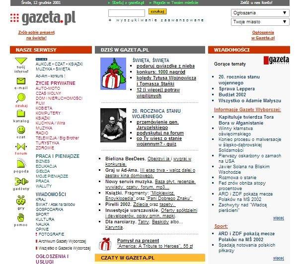 Gazeta.pl za czasów Windows XP