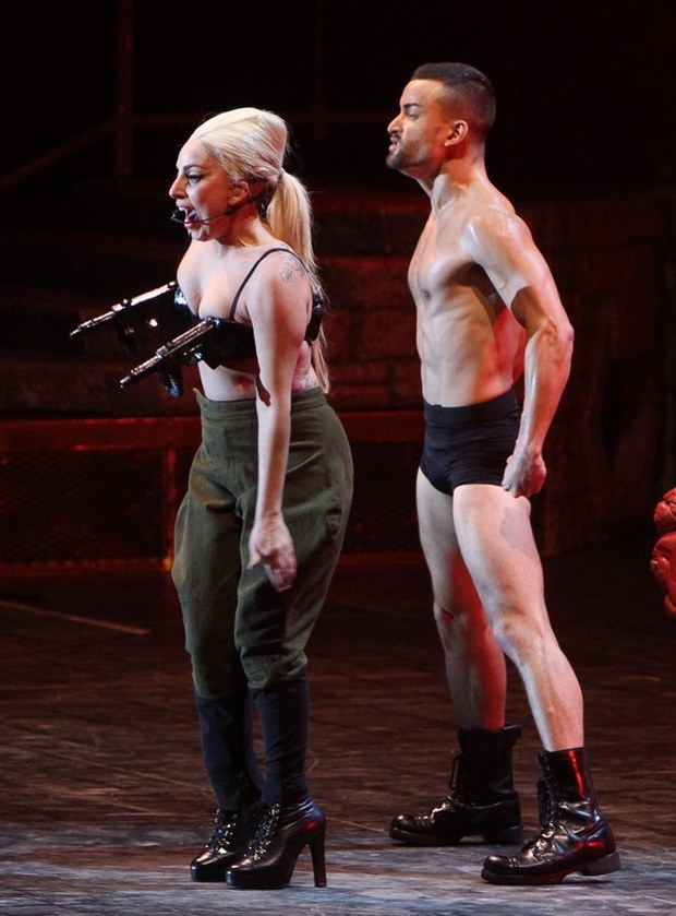 EXCLUSIVE: Lady Gaga performs in Amsterdam.  Pictured: Lady Gaga