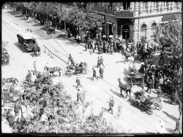 Ulica Marszałkowska w 1905 roku.