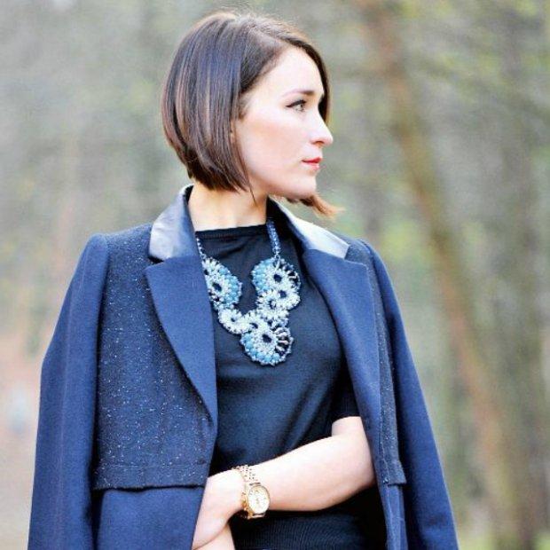 8 grudnia 2013 płaszcz, spódnica, torebka New Look, naszyjnik by Dziubeka, zegarek Fossil, bransoletki New Inspirations, K&Trend