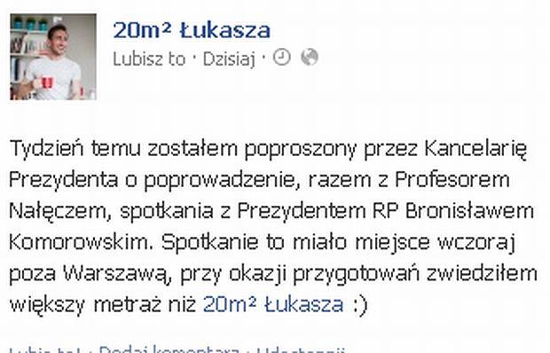 Łukasz Jakóbiak, Bronisław Komorowski