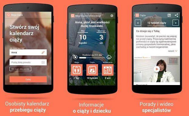 Moja ciąża - aplikacja mobilna na urządzenia z Androidem