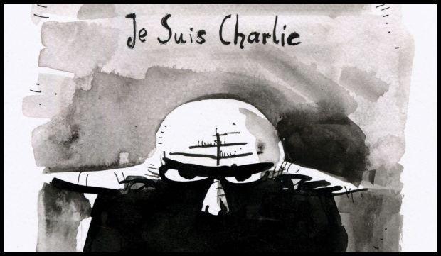 Pan Blaki też jest dziś Charliem. rys. Mateusz Skutnik