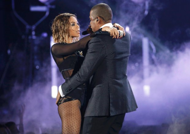 Beyonce and  Jay-Z  perform