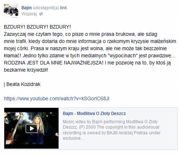 Facebook.com/Beata Kozidrak