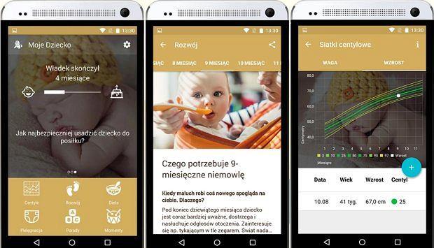Moje dziecko - aplikacja mobilna na urządzenia z Androidem