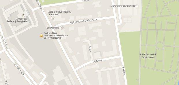 Park Nadii Sawczenko (Google Maps)