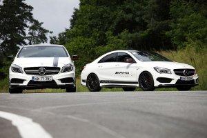 Konfrontacja | Mercedes A45 AMG kontra CLA45 AMG | Bratobójcza walka